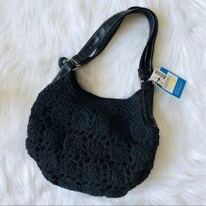 🎀Crochet black shoulder bag 🎀